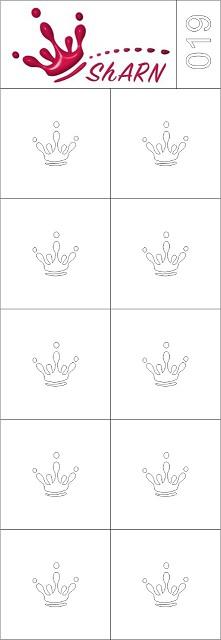 019 Трафарет для аэрографии на ногтях