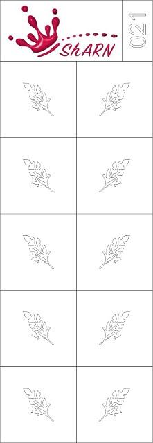 021 Трафарет для аэрографии на ногтях