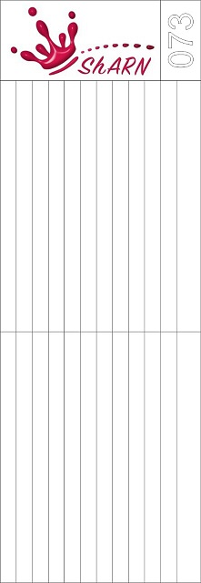 073 Трафарет для аэрографии на ногтях