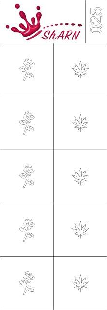 025 Трафарет для аэрографии на ногтях