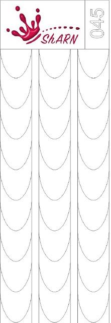 045 Трафарет для аэрографии на ногтях