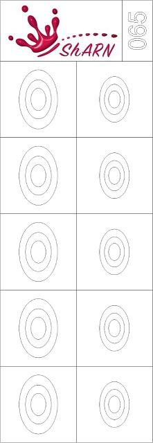 065 Трафарет для аэрографии на ногтях