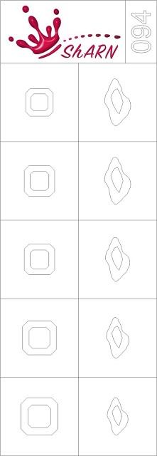 094 Трафарет для аэрографии на ногтях